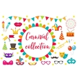 Carnival party icon set design element vector image vector image