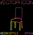 chair icon symbol furniture icon home interior vector image vector image
