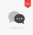 Chat icon Flat design gray color symbol Modern UI vector image