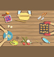 children craft and cooking class two vector image vector image