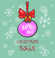 christmas sale with ball vector image vector image