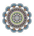 circular multicolored decorative line mandala icon vector image