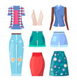 clothing summer mode poster vector image vector image