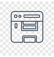 compiler concept linear icon isolated on vector image