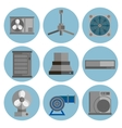 conditioning system flat icons set vector image