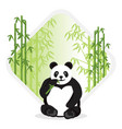 cute panda in bamboo forest premium vector image vector image