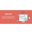 Data analysis concept banner vector image