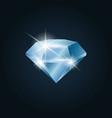 diamond gemstone shining vector image vector image