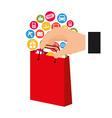 e-commerce icon vector image vector image