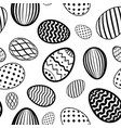 easter egg seamless pattern white black holiday vector image vector image