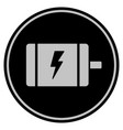 electric motor black coin vector image vector image