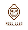 food point logo design concepts food and vector image