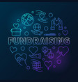 fundraising round modern in vector image vector image