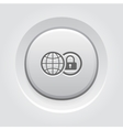 Global Security Icon Grey Button Design vector image vector image