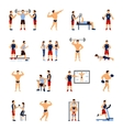Gym Trainer Set vector image vector image
