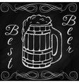 hand drawn sketch of beer vector image vector image