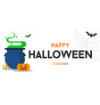 happy halloween text background or banner vector image