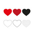 heart icons concept love linear icons thin vector image vector image