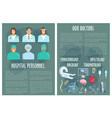 hospital medical personnel doctor poster design vector image vector image