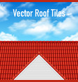 House Roof Tile Poster vector image