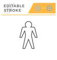 human editable stroke line icon vector image vector image
