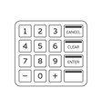 keypad an automated teller machine vector image