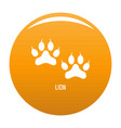 lion step icon orange vector image vector image