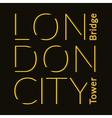 London City t-shirt vector image vector image