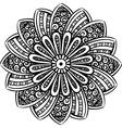 Mandala line art vector image vector image