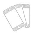 mesh smartphones icon vector image vector image