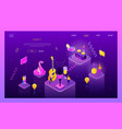 party in club - modern isometric web vector image vector image