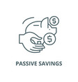 passive savings line icon linear concept vector image vector image