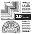 pattern brush set vector image