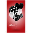 Red background with black and white balls vector image vector image