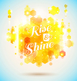Rise and shine poster Optimistic morning statement vector image vector image