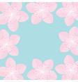 Sakura flowers Japan blooming cherry blossom set vector image