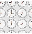 Seamless clocks vector image vector image