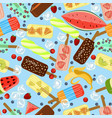 seamless pattern with popsicles vector image vector image