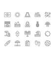 set brazilian culture line icons city favelas vector image vector image