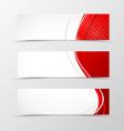 set header banner wavy design vector image vector image