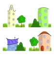 Set of cartoon houses vector image