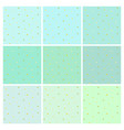 set of mint backgrounds with small gold spots vector image