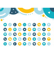 set simple icons weather vector image vector image