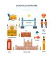 sights of london architecture structure culture vector image
