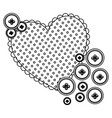 silhouette heart with bubbles icon vector image vector image