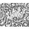 sketchy hand drawn doodles zen tangle zen vector image vector image