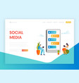 social media networking communication concept vector image vector image