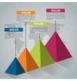 Steps options and infographic design vector image