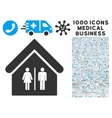 Toilet Building Icon with 1000 Medical Business vector image vector image