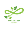 unlimited nature graphic design template vector image vector image